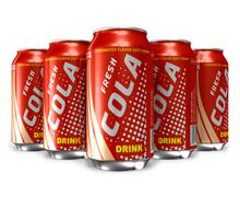 Set of cola drinks in metal cans Stock Illustration