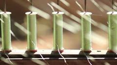 Thai silk yarn making. Stock Footage