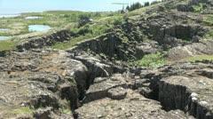 Iceland Pingvellir lava rift detail Stock Footage