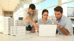 Team of architects working on project Stock Footage