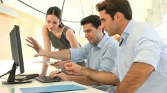sales people meeting in office - stock footage