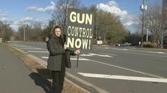 Gun Control Protester Stock Footage