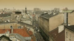 Aerial view of the Krakow city in Poland Stock Footage