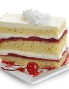 strawberry cake slice - stock photo