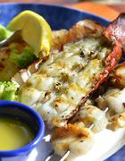 lobster shrimps and scallops - stock photo