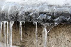 Ice spikes - stock photo