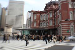 Tokyo Station in th morning Stock Photos
