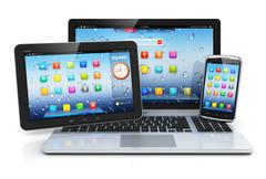 Laptop, tablet PC and smartphone Stock Illustration