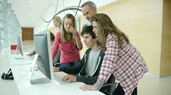 Students and teachers in training course Stock Footage