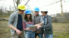 Adult with group of teenagers in professional training Stock Footage
