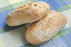 Two Whole Wheat Rolls - stock photo
