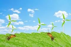 ant wind - stock illustration