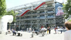 george pompidou centre, national museum of modern art, paris - stock footage