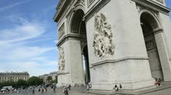 the arch of triumph - stock footage