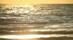 Sea waves at sunset - stock footage