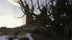 Arches National Park, Balancing Rock Sunrise Stock Footage