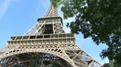 the eiffel tower, paris- france - stock footage
