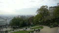 View of paris from montmartre hill Stock Footage