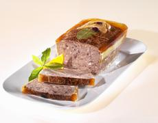 Stock Photo of Venison pate with bay leaf