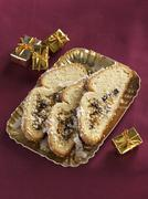 Coconut Stollen at Christmas - stock photo