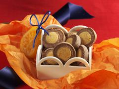Chocolate-orange cookies for gift giving - stock photo