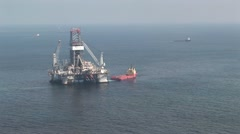 Offshore Oil Rig - stock footage