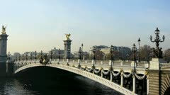 Alexander iii bridge Stock Footage