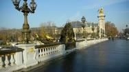 Stock Video Footage of alexander iii bridge, classified as an historical monument of paris, france
