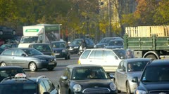 Paris - circa november 2011: traffic in the center of paris, france circa nov Stock Footage