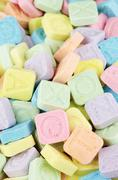 'Pop Rocks' in a variety of pastel colors - stock photo