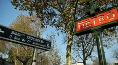 Metropolitan of paris, the densest metro networks in the world, paris- france Stock Footage