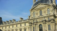 paris - circa november 2011: the pyramid and louvre museum of paris, france c - stock footage
