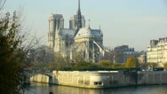 Stock Video Footage of notre dame of paris- cathedral, a gothic, roman catholic cathedral on the eas