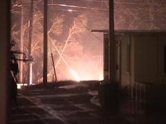 Hurricane Transformer Fire Stock Footage