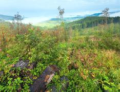 September carpathian mountain  view Stock Photos