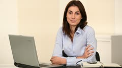Smiling office worker Stock Footage