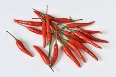 Fresh red chillies - stock photo