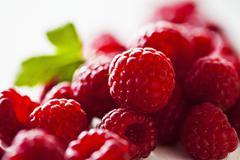 Raspberries (close-up) - stock photo