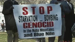 Stop Sudanese Genocide (Clip 7 of 7) Stock Footage