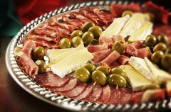 Antipasto Party Platter - stock photo