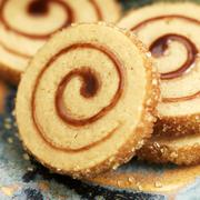 Maple Pinwheel Cookies with Raw Sugar Edges Stock Photos