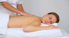 Woman having a massage Stock Footage