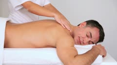 man in beauty center having a massage - stock footage