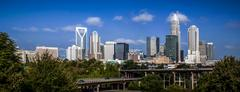 skyline of uptown charlotte, north carolina. - stock photo