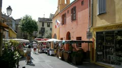 Craft market in biot, french riviera Stock Footage