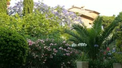 beautiful private home garden in provence - stock footage
