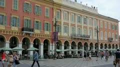july 2012, people doing shopping on the massena area, nice- french riviera - stock footage