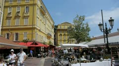 Flowers market in nice, french riviera Stock Footage