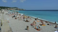 Promenade des anglais, french riviera Stock Footage