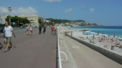 Stock Video Footage of promenade des anglais, french riviera
